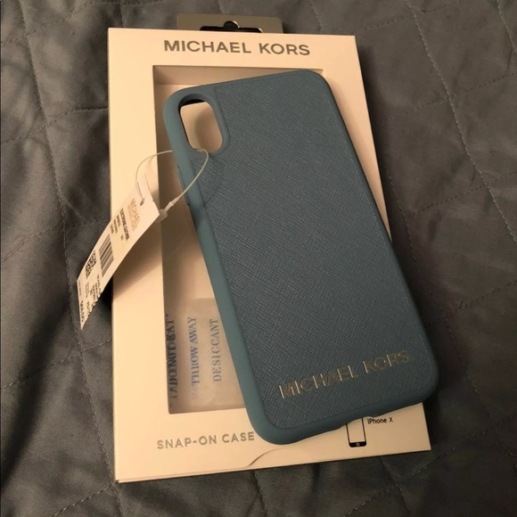 lowest price fadad 51133 Michael Kors iPhone X Case Blue NWT